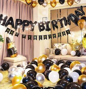 Big surprise Happy Birthday Balloons Banner Birthday Baby Shower Decoration