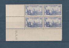 timbre France bloc de 4 coin daté  exposition de New York  num: 426  **