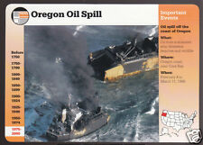 OREGON OIL SPILL 1999 Coos Bay New Carissa Photo GROLIER STORY OF AMERICA CARD