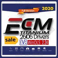 ECM TITANIUM 1.61(26106 Drivers)+ WinOLS 2.24+ ECU File Unlock+Tuning Files+ 🎁