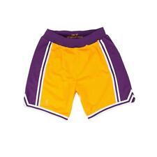 Mitchell & Ness NBA auténticos Pantalones Cortos de Los Angeles Lakers de oro