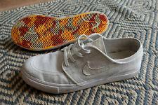 Nike SB Zoom Stefan Janoski White Canvas Deconstructed Skateboarding Shoe UK 7.5