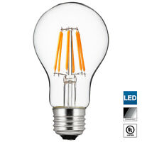 Sunlite LED Edison-Style A19 Bulb, 6 Watt, Dimmable, 4000K Cool White