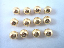 """New listing 50 Gold Tone Round Domed Nailheads Spots Studs Clothing Decoration Punk 3/16"""""""
