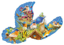 SUNSOUT SHAPED JIGSAW PUZZLE BLUEBIRD COUNTRY JOSEPH BURGESS 1000 PCS #95929