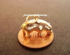 BEAUTIFUL 9K 9CT GOLD '  HIPPO  ' CHARM CHARMS