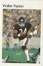 WALTER PAYTON (Chicago Bears) Signed Oversized Card w/ PSA COA