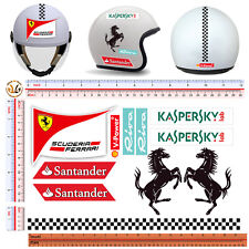 ferrari adesivi per personalizzare casco KIT 11 pezzi sontornati casco tuning