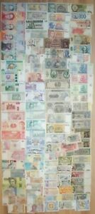 Lot of different world banknotes - 104 pcs