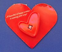 Hallmark PIN Valentines Vintage HEART Sewing BUTTON Slant Holiday Brooch NEW*
