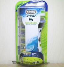 Schick Hydro 5 Power Select package Vibration Razor+ 6 Refill Cartridges Blades