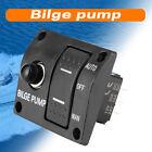 Boat 3-Way Bilge Pump Switch Panel Automatic-Off-Manual 12v 24v w/ Fuse Holder photo