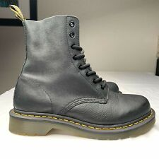 Dr. Martens Women's size US 8 boots 8-eye Black Aw004 13512 Leather NEW NICE