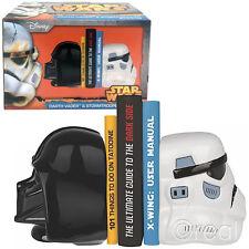 Nuevo Star Wars Darth Vader & Stormtrooper Cerámica Sujetalibros Oficial Lucasfilm Ltd