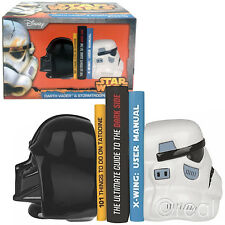 New Star Wars Darth Vader & Stormtrooper Ceramic Bookends Official Lucasfilm Ltd