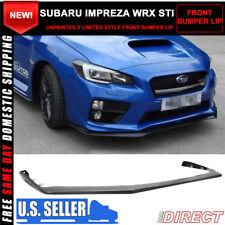 For 15-19 Subaru WRX STI OE Style V Limited Front Bumper Lip - PP