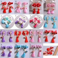 Kids Girls Floral Hairpin Hairwear Hair Clip Accessories For Tang Suit cheongsam