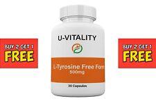 Buy 2 get 1 FREE - L Tyrosine 500mg Free Form, Chronic Fatigue Depression