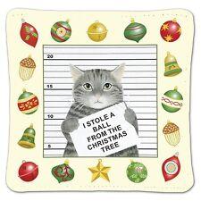 Alice's Cottage Cotton Scented Spiced Mug Mat Coaster Holiday Cat Burglar - NEW