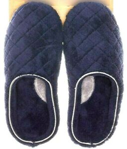 Dearfoams Peacoat Women's Slippers Memory Foam Dark Blue Size Small (5-6) New