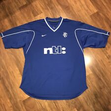 Vtg 90s Nike RANGERS FC Glasgow Scotland Football Club Soccer Jersey Kit 2XL XXL