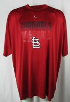 St. Louis Cardinals Majestic Red Short Sleeve Men's Big & Tall T-Shirt MLB