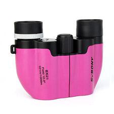 NEW Black Friday Promotions FOR Kids Pink 8x21 Binoculars Multi Coated Lens Tele