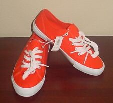 NWT Ladies SNEAKERS Old Navy Athletic Shoes SIZE 9 BRIGHT ORANGE Canvas