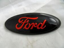 Ford F150 2005-14 Grille / Tailgate Emblem Black/Red Oval Badge (2nds) Free Ship