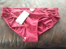 new merona hipster brick red  solid swimwear bikini bottom sz med nwt swimsuit