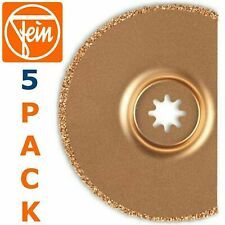***NEW*** FEIN 63502170020 Tile Grout Removal Oscillating Saw Blade (5 ITEMS)