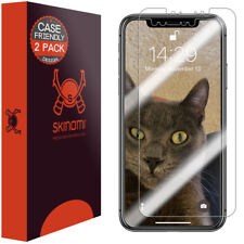 2x Skinomi TechSkin Clear Screen Protector fo iPhone XS Max [Case Compatible]