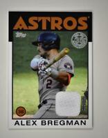 2021 Series 1 1986 Topps Baseball Relic #86R-AB Alex Bregman - Houston Astros