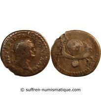 VESPASIEN, FRAPPE SOUS TITUS - DENIER ARGENT 80 ROME