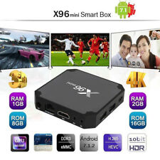 HD X96 Mini 2GB/16GB Android 7.1.2 Quad Core Smart TV Box WiFi 4K Media Remote