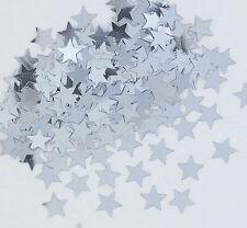 Sterne Konfetti Sternchen Streu Metallic Silber Folie Basteln Weihnachten 1cm Ø