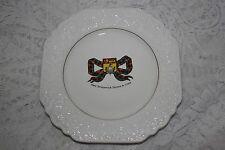 Lord Nelson Pottery New Brunswick Tarten & Crest Embossed Plate  England