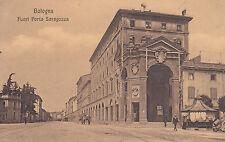 8410) BOLOGNA FUORI PORTA SARAGOZZA CHIOSCO E CARRI CON CAVALLI.