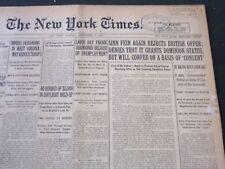 1921 SEPTEMBER 5 NEW YORK TIMES - SINN FEIN AGAIN REJECTS BRITISH OFFER- NT 5475