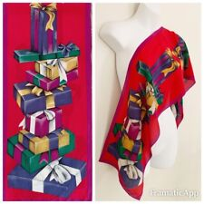 Vintage ELAINE GOLD Collection XIIX Designer Scarf Christmas Holiday Gifts