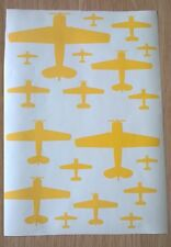 Texan Havard T-6 trainer Aircraft Silhouette Stickers A4 self adhesive vinyl