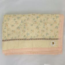 Handmade Baby Blanket/ Quilt, Yellow And Peach Floral