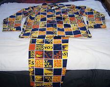 West Coast Eagles AFL Mens Printed 2 Piece Flannel Pyjama Set Size XL New