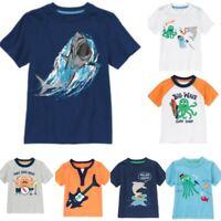 Gymboree Rock the Waves 6-12-18-24 mo 2T 3T 4T 5T Shirt Shark Fish Music Orange