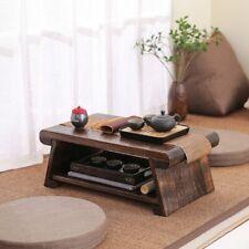 CHABUDAI Japanese Antique Tea Table Folding Legs Asian Floor Low Tea Table Wood