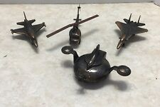 4 Airforce Metal Diecast Pencil Sharpeners