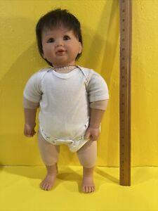 "2002 My Twinn Babies 20"" posable Baby Doll Brown Hair Brown Eyes"