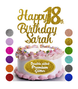 Happy Birthday Personalised Cake Topper Any Name Any Age Cake Decoration Party