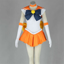 Anime Minako Aino Outfit Sailor Moon Dress Cosplay Costume Tops+Skirt Any Size