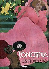 PUBBLICITA' 1908 FONOTIPIA DISCHI ARTISTICI M. DUDOVICH FAUNO MUSICA LIBERTY